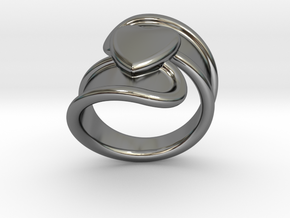 Valentinodayring  29 - Italian Size 29 in Fine Detail Polished Silver
