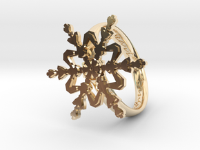 Snowflake Ring 2 d=19mm h35d19 in 14K Yellow Gold