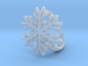 Snowflake Ring 1 d=19mm h35d19 in Smooth Fine Detail Plastic