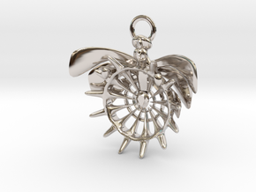 Holy pendant in Rhodium Plated Brass
