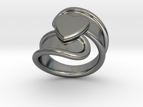 Valentinodayring  30 - Italian Size 30 in Fine Detail Polished Silver