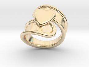 Valentinodayring  30 - Italian Size 30 in 14k Gold Plated Brass