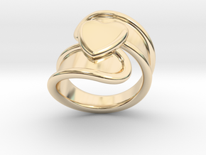Valentinodayring  31 - Italian Size 31 in 14k Gold Plated