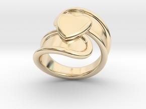 Valentinodayring  32 - Italian Size 32 in 14k Gold Plated Brass