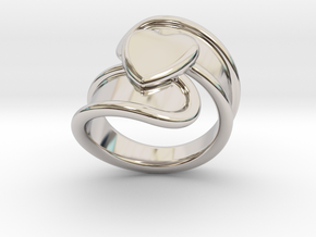Valentinodayring  32 - Italian Size 32 in Rhodium Plated Brass