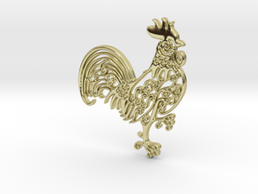 Rooster_Pendant in 18k Gold Plated