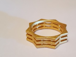 You Are A Star Ring Size 9 in Matte Gold Steel