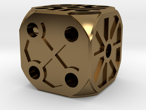 Rustic  Die - Small in Polished Bronze