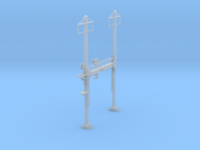 CATENARY PRR BEAM SIG 2 TRACK 2PHASE N SCALE  in Frosted Ultra Detail