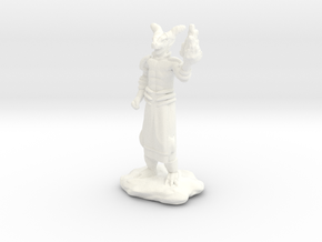 Fire Wizard with Dragon Helmet in White Strong & Flexible Polished