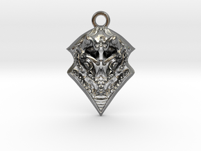 BORO pendant  in Polished Silver
