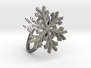 Snowflake Ring 1 d=19mm h21d19 in Polished Nickel Steel