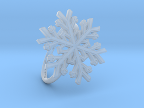 Snowflake Ring 1 d=19mm h21d19 in Smooth Fine Detail Plastic