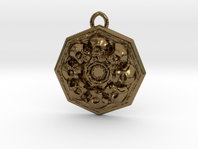 SKUX pendant  in Polished Bronze
