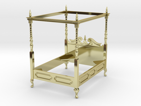 1:48 Four Poster Canopy Bed in 18K Gold Plated