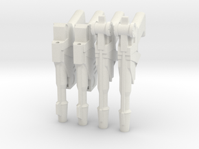 1:6 25th Century Blasters 2 pairs SF version in White Natural Versatile Plastic