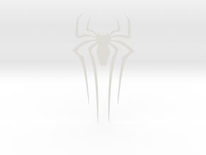 The Amazing Spider-man FRONT Spider in White Natural Versatile Plastic