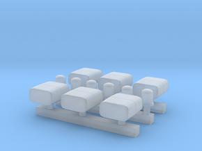 RTK 3 (Lautsprecher + KL600) - 6 Stück 1/87 in Smoothest Fine Detail Plastic