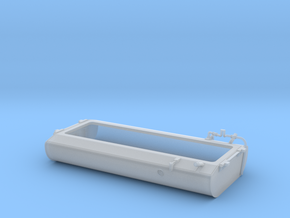 FT0002 SD40-2W Fuel Tank, Rebuilt 1/87.1 in Smoothest Fine Detail Plastic