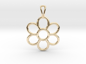 Share Your Smile With Me Sunflower Pendant (Small) in 14k Gold Plated Brass