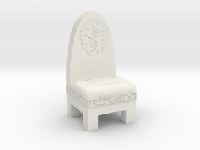 Dwarf Wooden Chair in White Natural Versatile Plastic