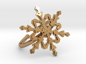 Snowflake Ring 2 d=19.5mm Adjustable h21d195a in Polished Brass