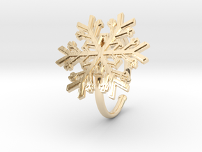 Snowflake Ring 1 d=19.5mm Adjustable h21d195a in 14k Gold Plated Brass