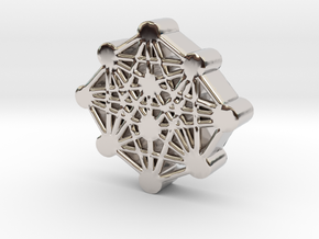 Ten Sefirot Molecule in Rhodium Plated Brass