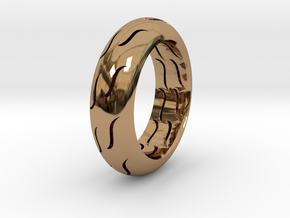 TIRE RING in Polished Brass