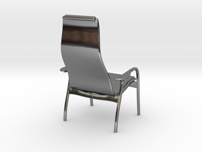 Lamino Style Chair 1/12 Scale in Fine Detail Polished Silver