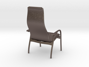Lamino Style Chair 1/12 Scale in Polished Bronzed Silver Steel
