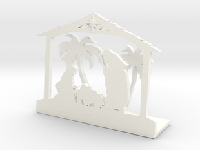 Nativity Scene in White Processed Versatile Plastic