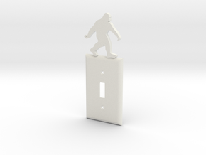 Bigfoot light switch cover in White Natural Versatile Plastic