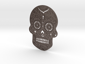 SKULL 3.0 in Polished Bronzed Silver Steel