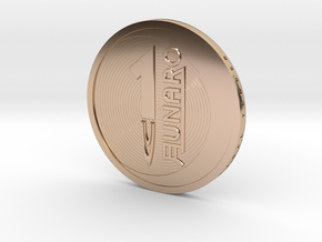 Lunaro Sterling. 2014, coin in 14k Rose Gold Plated Brass