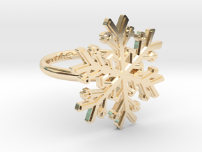 Snowflake Ring 1 d=16.5mm h21d165 in 14k Gold Plated Brass