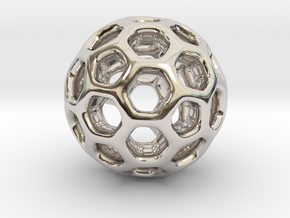 HONEYSPHERE. Sweetest Charm for Her in Rhodium Plated Brass