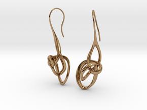 Treble Clef Earrings in Polished Brass