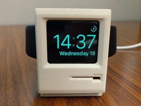 Apple Watch Dock - Mac Plus in White Processed Versatile Plastic