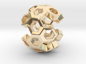 HONEYBOMB ESENSE, Pendant. Sweet Explosion in 14K Yellow Gold