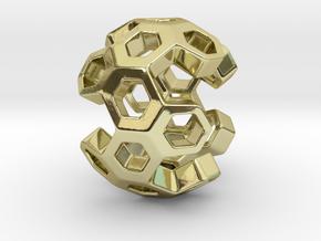 HONEYBOMB ESENSE, Pendant. Sweet Explosion in 18k Gold Plated Brass