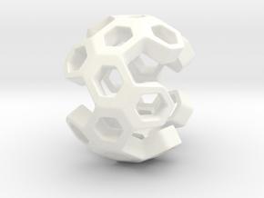 HONEYBOMB ESENSE, Pendant. Sweet Explosion in White Processed Versatile Plastic