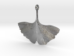 Ginkgo Necklaces in Fine Detail Polished Silver