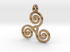 Triple Spiral in Polished Brass