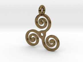 Triple Spiral in Polished Bronze