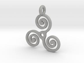 Triple Spiral in Aluminum