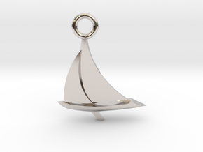 Sailboat Pendant in Platinum