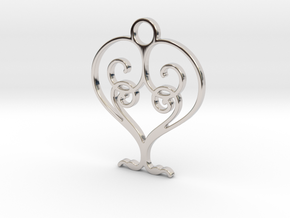 Love Grows Pendant in Rhodium Plated Brass