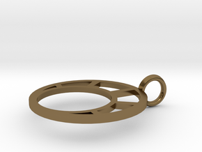 Combination Pendant Front 20 mm in Polished Bronze