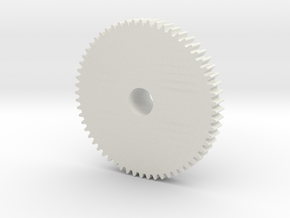 Winding Gear in White Natural Versatile Plastic